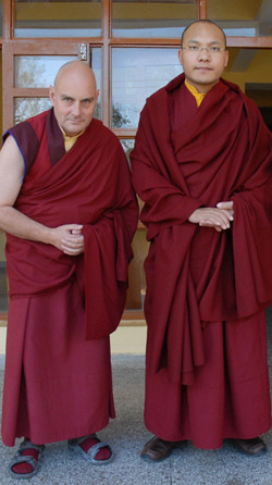 The author with HH Karmapa
